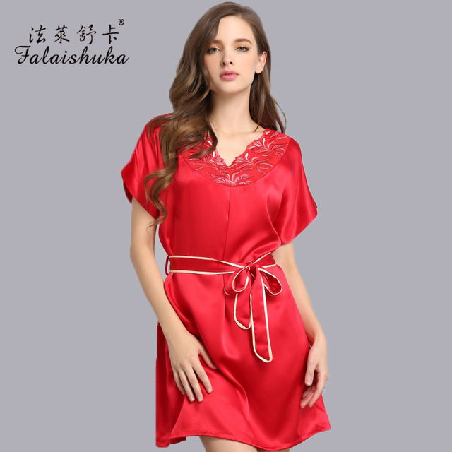 High-grade silk New sexy silk pajama Sets for women gowns 100%Pure Silk Robe Satin Pajamas Luxury Loungewear Nightwear S3521