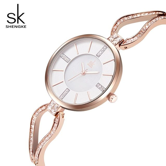 SK Luxury Women Bracelet Watches For Ladies Elegant Women Waterproof Wristwatch Top Brand Fashion Quartz-Watch relogio feminino