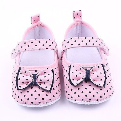 2016 Hot Lovely Sneakers Newborn Baby Crib Shoes Princess Girls Infant Toddler Soft Sole Shoes