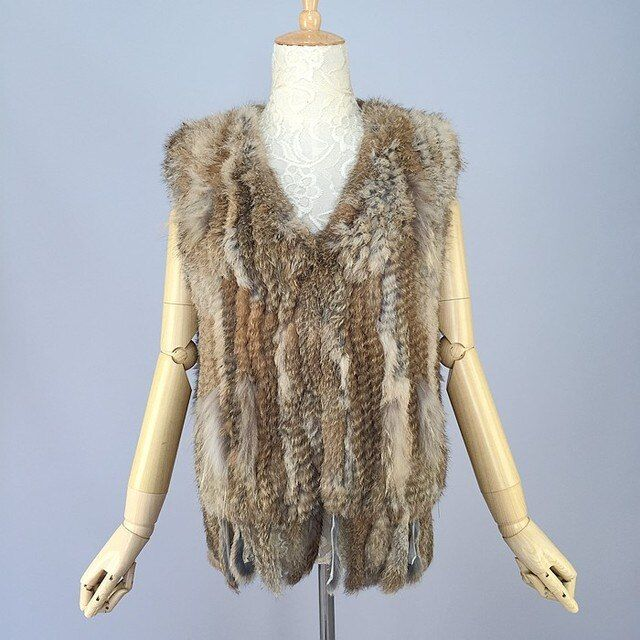 high quality 2013 New Fashion Rabbit fur Gilet 100% Natural Rabbit fur Vest In stock