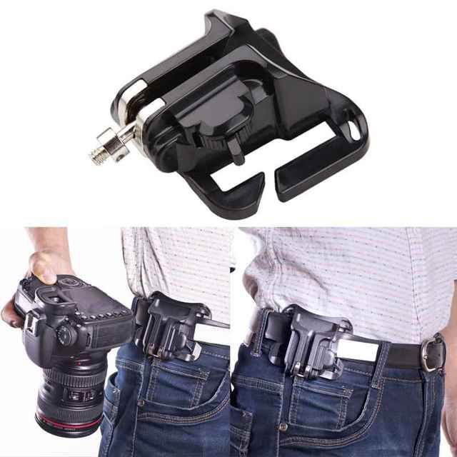 Fast Loading Holster Hanger Quick Strap DSLR Camera Waist Belt Buckle Button Mount Clip Camera Video Bags For Sony Canon Nikon
