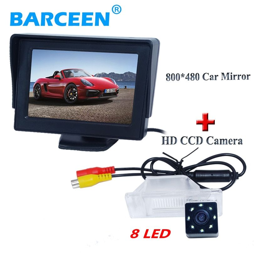 "Desktop type +8 led +4.3"" car monitor+ car rear camera with display fit for NISSAN QASHQA/ X-TRAIL for Peugeot 307 Hatchback"