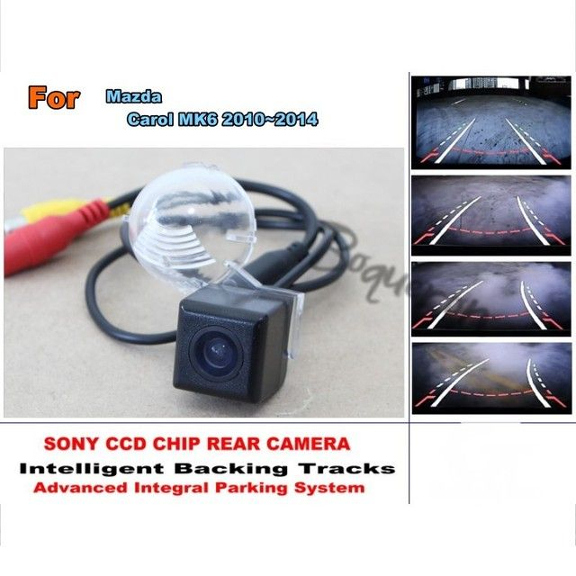 For Mazda Carol MK6 2010~2014 Smart Tracks Chip Camera / HD CCD Intelligent Dynamic Parking Car Rear View Camera
