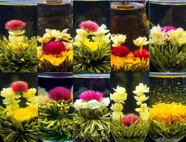 12pcs different kinds of blooming flower tea balls, lily&jasmine tea, green tea from nature-picking