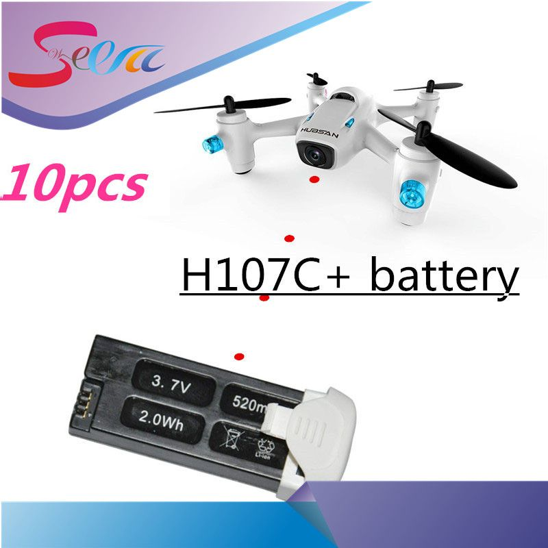 10pcs Hubsan Original 3.7V 520mAh LIPO battery Hubsan X4 Camera H107C Plus H107C+ 6-axis Gyro RC Quadcopter RTF 2.4GHz