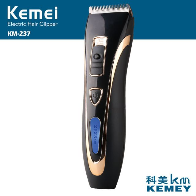 Kemei 237 Professional Electric Hairs Clipper Ceramic Blade LCD Display Styling Hairs Trimmer Removal Cutter Shaving Clean Tools