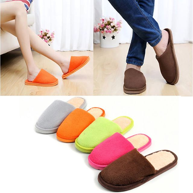 NEW Women Men Home Anti-slip Shoes Soft Warm Cotton Sandal House Indoor Slippers