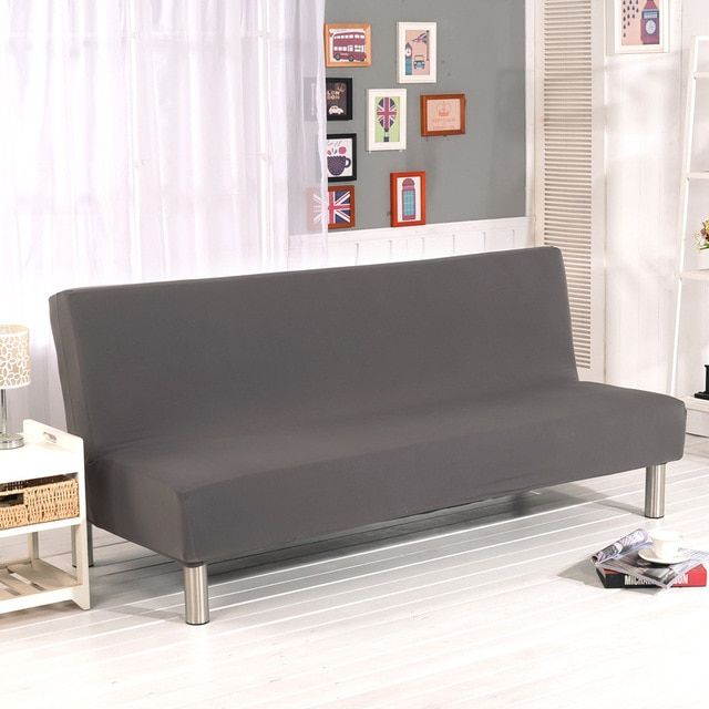 WLIARLEO All-inclusive Sofa Cover Tight Wrap Elastic Sofa Towel Slipcover Covers Couch For Without Armrest Folding sofa bed Gray