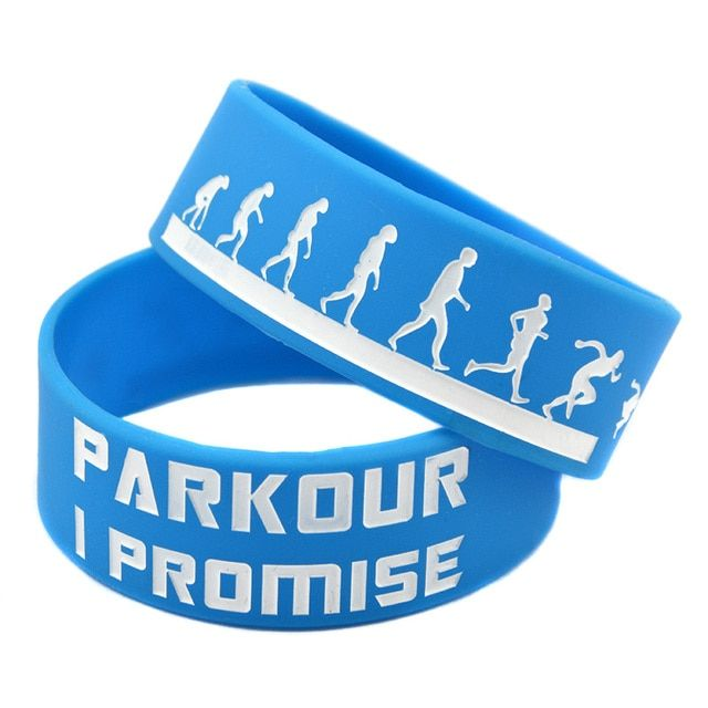 "OneBandaHouse 25PCS/Lot 1"" Wide Band Parkour I Promise Silicone Wristband Bracelet for Sport"