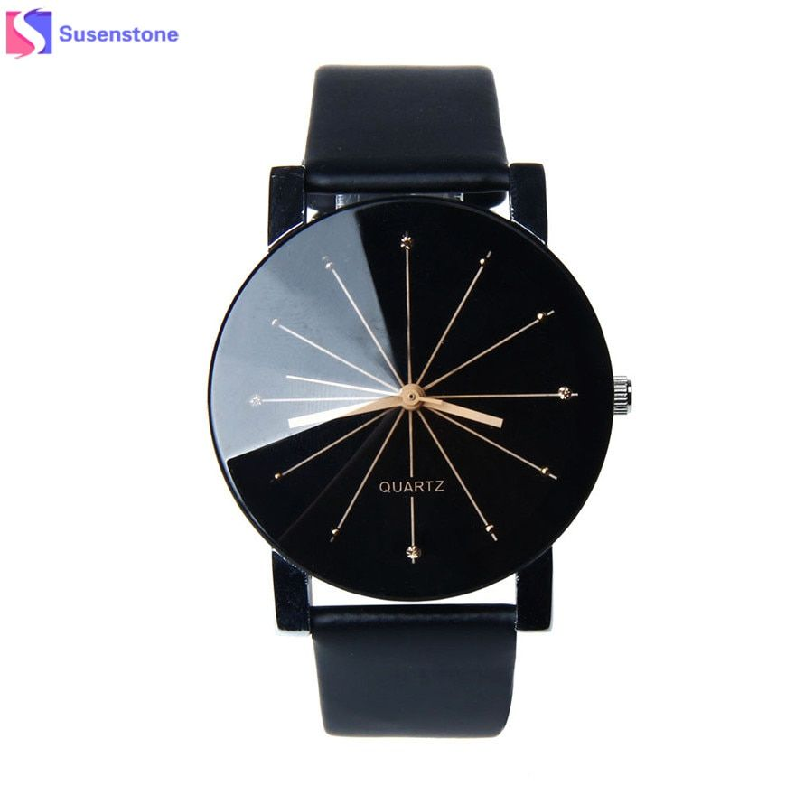 Men Women Watches Lovers'Luxury Brand Leather Analog Quartz Watch Glass Dial Clock Men's Women's Couple Watch Relogio Masculino