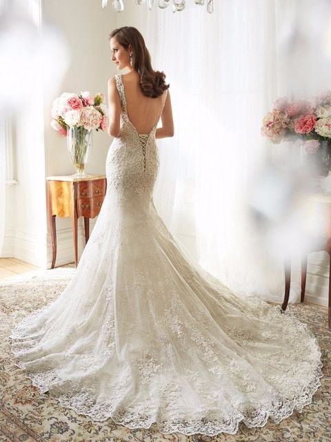 Custom Made Applique Lace Mermaid Wedding Dresses 2016 High Quality Open Back New Wedding Gown vestido de noiva