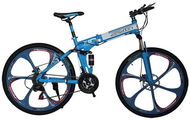 Bike Mountain 26 *17 21 speeds 6 spokes folding mountain bicycle One wheel damping disc brake mountain bike MB005