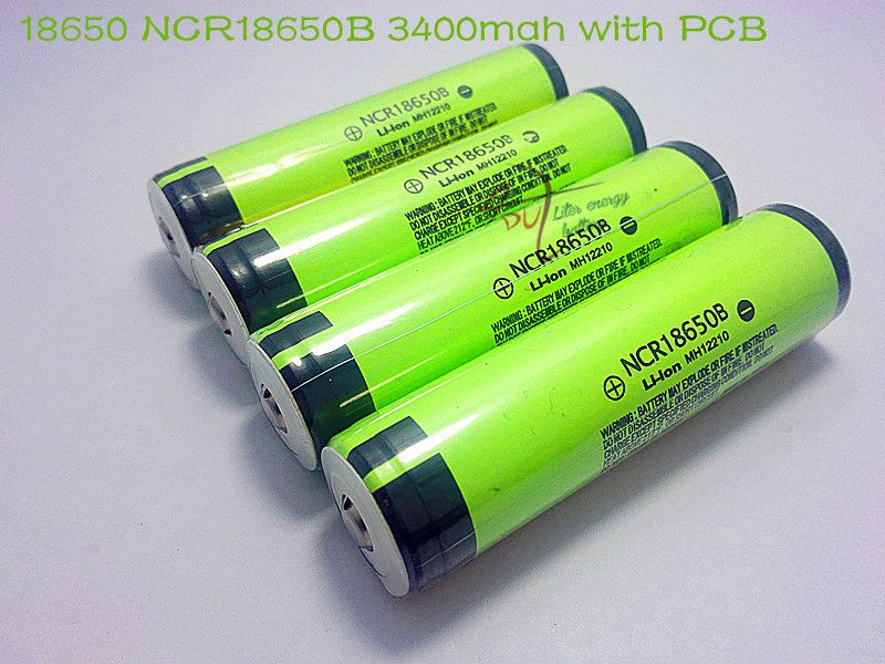 lot New Protected Original Rechargeable battery 18650 NCR18650B 3400mah with PCB 3.7V For Panasonic