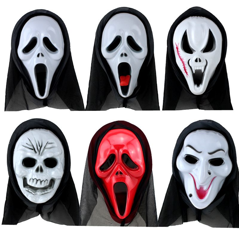 6pcslot Fun Scary Horrible Mask Party Halloween Fool's Day Demon latex Mask Cosplay Costume full Face Masks Woman Man Children