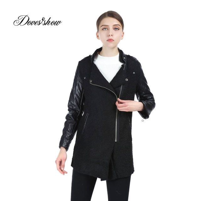 Clearance Brand Design Winter Coat Women Warm Cotton-padded Wool Coat Long Women Cashmere Coat European Fashion Jacket Outwear