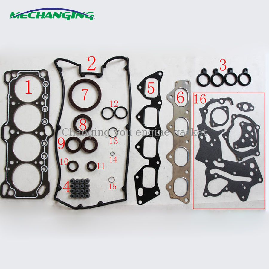 Fits CHRYSLER 2000 GTX TURBO 16V 4G63 4G63T Engine Head Gasket Sets Automotive Spare Parts Overhaul Package 50122000