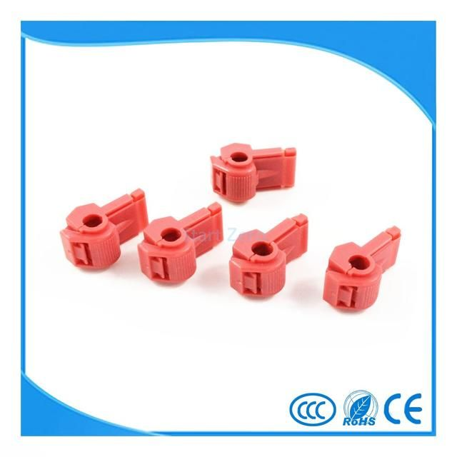 100Pcs Red Scotch Lock Wire Male Connectors Quick Splice Terminals Crimp Electrical