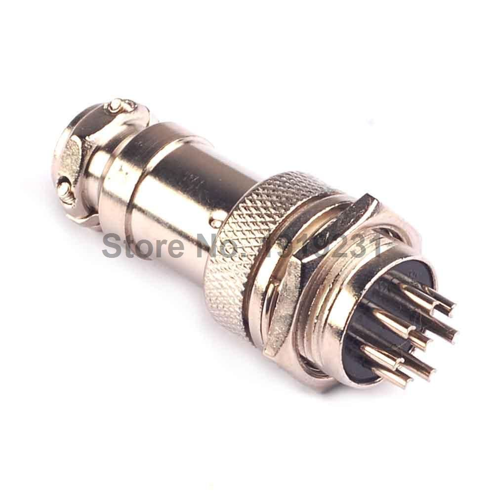 1pair GX16-8P GX16 8Pin 16mm Male&Female Wire Panel Connector plug Circular Aviation Connector Socket Plug