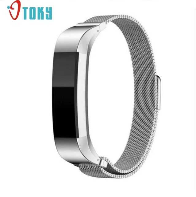OTOKY Hot Unique Magnetic Loop Stainless Steel WatchBand Connector For Fitbit Alta Bracelet strap relogio watchband Dropship F49