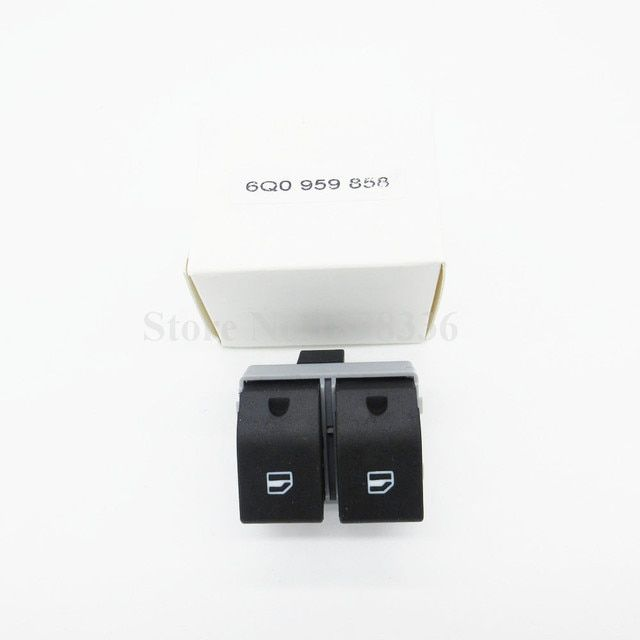 10 pcs/lot Electric Power Window Switch Front 6Q0959858 For Seat Cordoba Ibiza IV for VW Polo Fox 100% Factory Cheap Wholesale