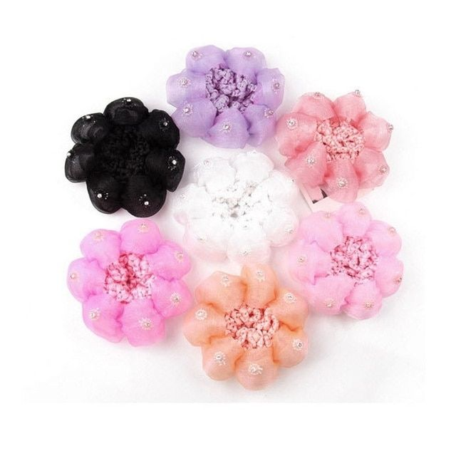 Top Baby Child Dance Flower Balls Hair Net Involucres Large Hairnet Hair Accessories Beauty Tools