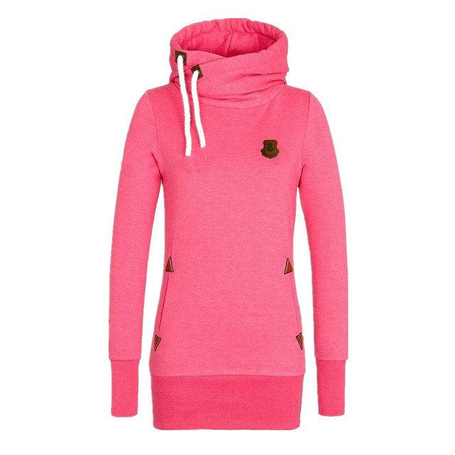 Fall 2017 Hot Europe and American solid color large size women's fleece hooded outwear tops coat primer female jacket MZ696