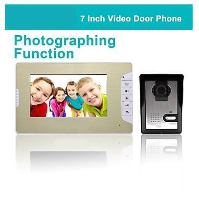 "FKH   7"" LCD Photographing Video Door Phone Doorbell Home Entry Intercom with 500TVL Night Vision Camera"
