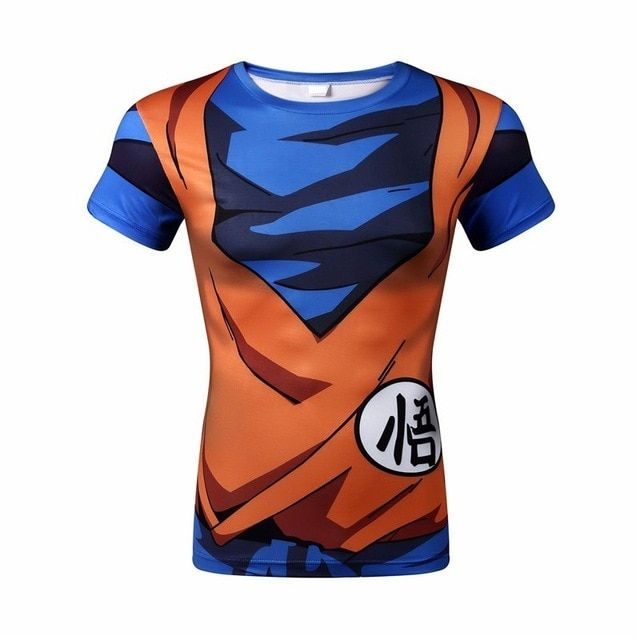 OHCOS Dragon Ball Vegeta Goku Piccolo Super Saiyan Cosplay T shirt Costume