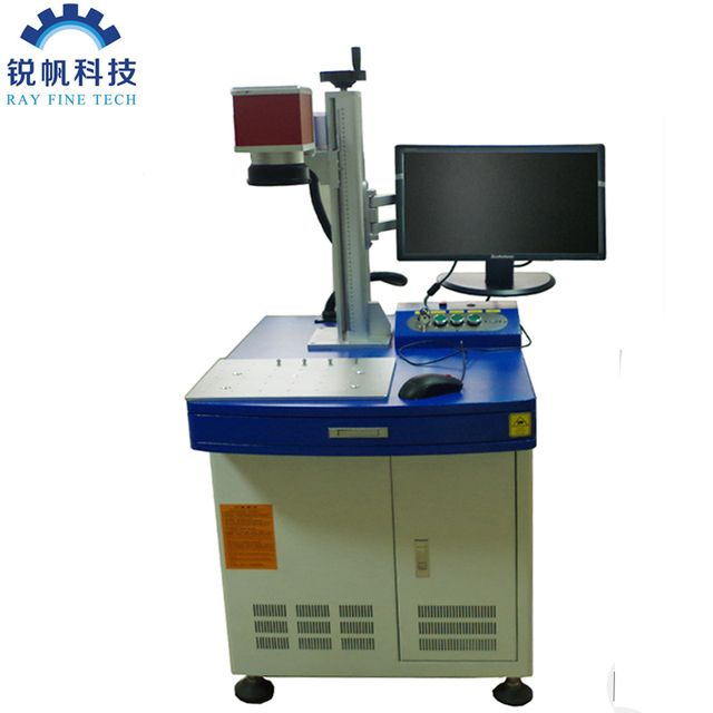 RAYCUS 30W desktop fiber laser marking machine for aluminum equipe with sunny galvo head and singapore imported lens