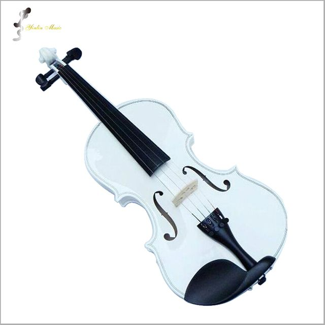 White Violin 1/4 3/4 4/4 1/2 1/8 Size Available Violin in Full Set (Bow, Rosin and Case) Colorful Violins Many Colors Available
