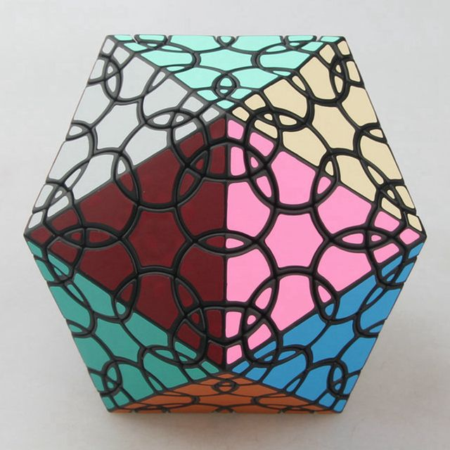 VerryPuzzle Clover Icosahedron D1 Magic Cube Speed Twisty Puzzle Cubes Game Educational Toys For Kids Children