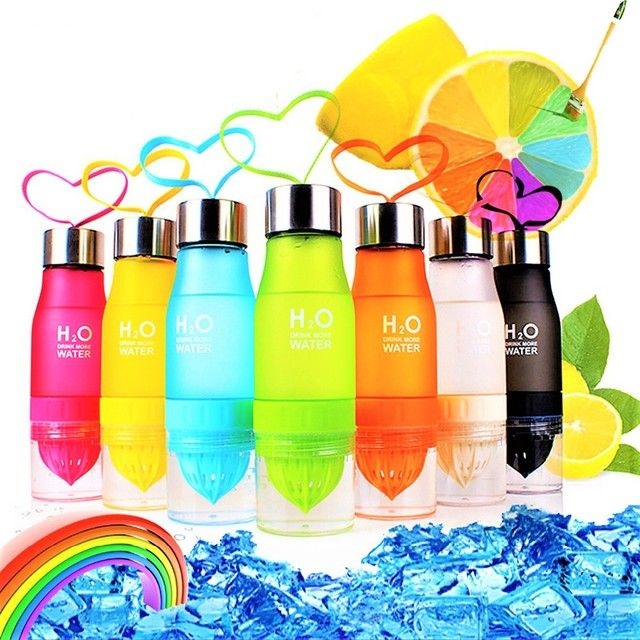 2017 Gift 700ml Water Bottle H2O plastic Fruit infusion bottle Infuser Drink Outdoor Sports Juice lemon Portable my bottle