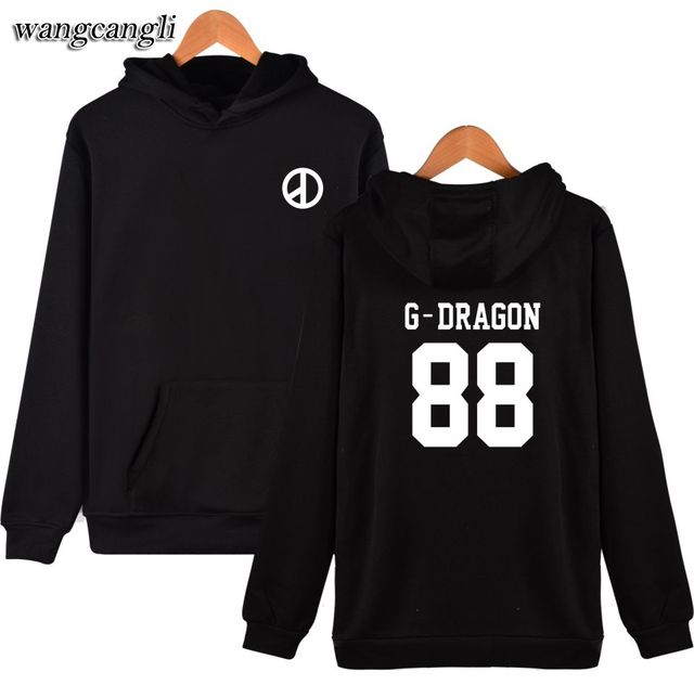 High Quality Hoodies Men /Women Hip Hop G-Dragon And Big Bang New Brand Hoodie Sweatshirt Men Jacket XXS To 4XL Spring Style