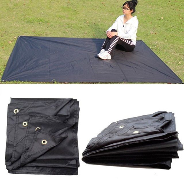 Tarp Airbed Waterproof Outdoor Picnic Beach Camping Mat Camping Tarpaulin Bay Play Mats Plaid Blanket