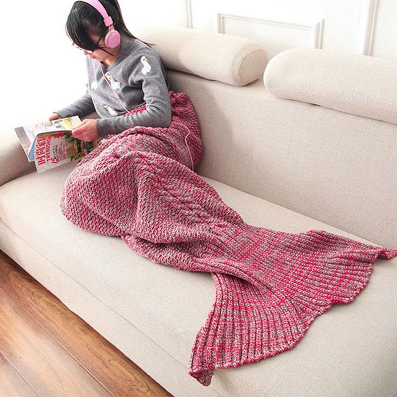 Baby And Mom Blanket Babies And Mothers Bedding Mermaid Blanket Newborn Infant Swaddle Carpet Kids Playmat 60*140cm/80*190cm