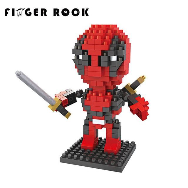 Anime Figures Building Blocks Super Heroes Deadpool DIY Bricks Mini 3D Model Toys Assembled Educational Toys Gifts For Children