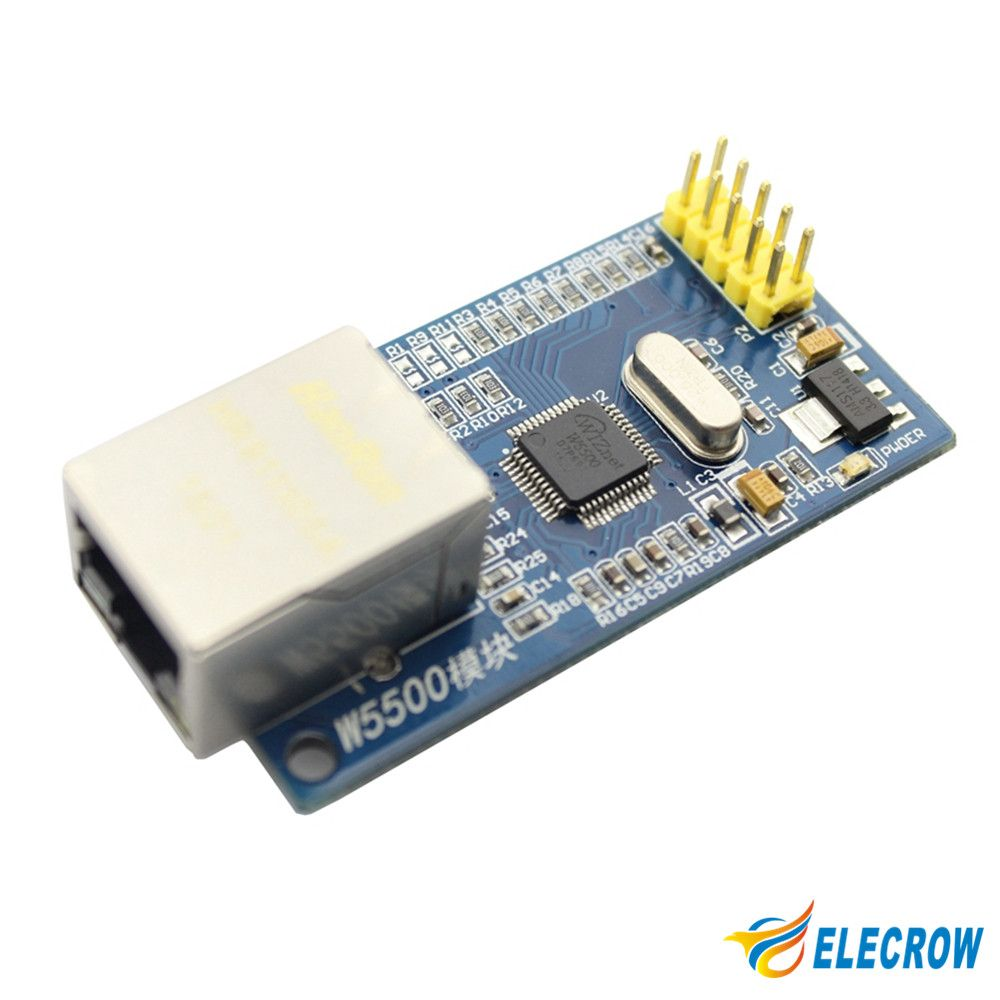New W5500 Ethernet Module Network Hardware TCP/ IP 51/ STM32 Microcontroller Program Over W5100 Electronic DIY Kit 1Pcs