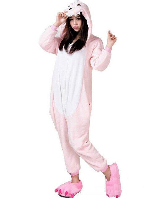 2015 New Design Animal Fannel or Fleece Pink Dinosaur Onesies For Couples Pajamas Costume Totoro Girrafe Panda Adult Styles