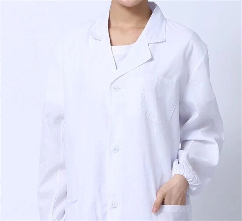 Summer Nurse Uniforms Standard doctor clothing Professional long sleeve white nurse clothes physician services white lab coat