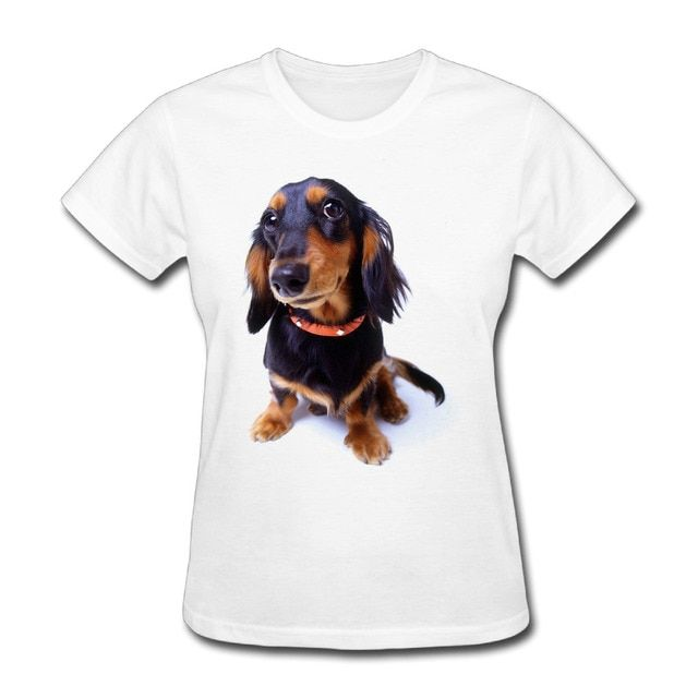Womens American Pit Bull Terrier Puppy graphic short sleeve Tshirts novelty White