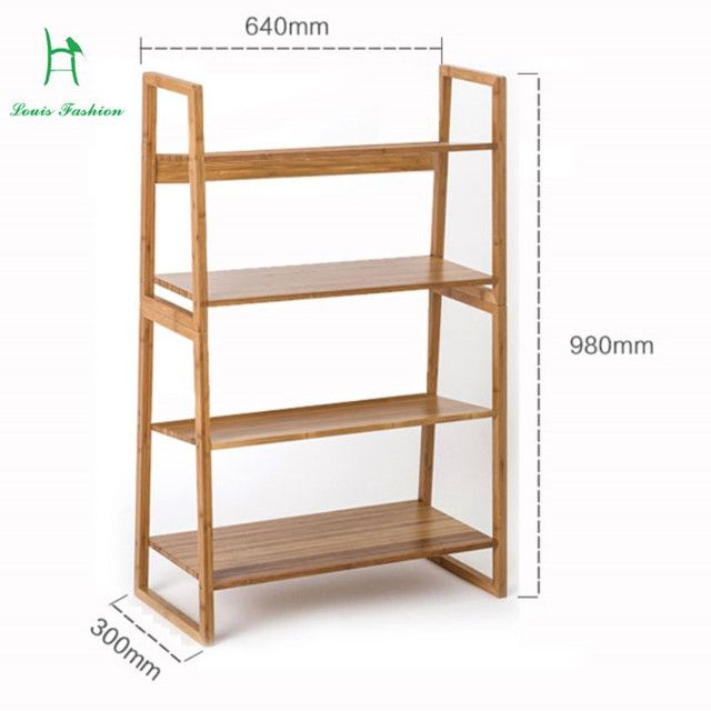 FACILITY MODERN MULTILAYER BAMBOO BOOKCASE