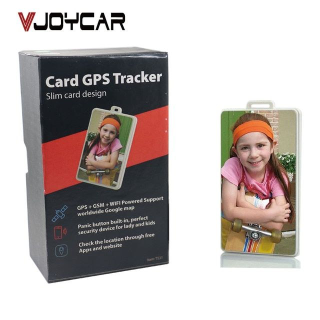 VJOYCAR T531 Bracelet ID Card GPS Tracker Children Child SOS GPRS GSM SMS Locator FREE Tracking Device Software