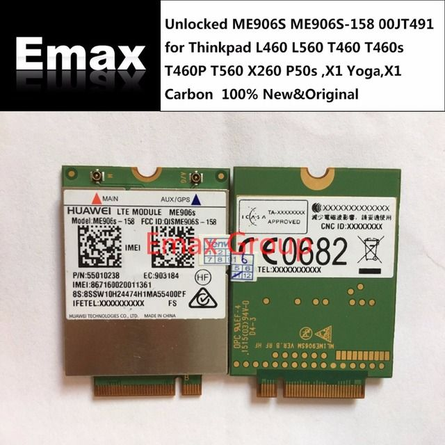Unlocked ME906S ME906S-158 00JT491 for Thinkpad L460 L560  T460 T460s T460P T560 X260 P50s ,X1 Yoga,X1 Carbon  JINYUSHI stock