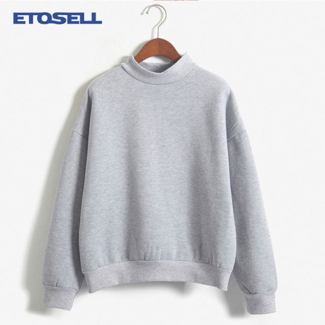 Autumn Winter Women Hoodies Casual O-neck sweatshirt pullover candy coat jacket outwear Tops