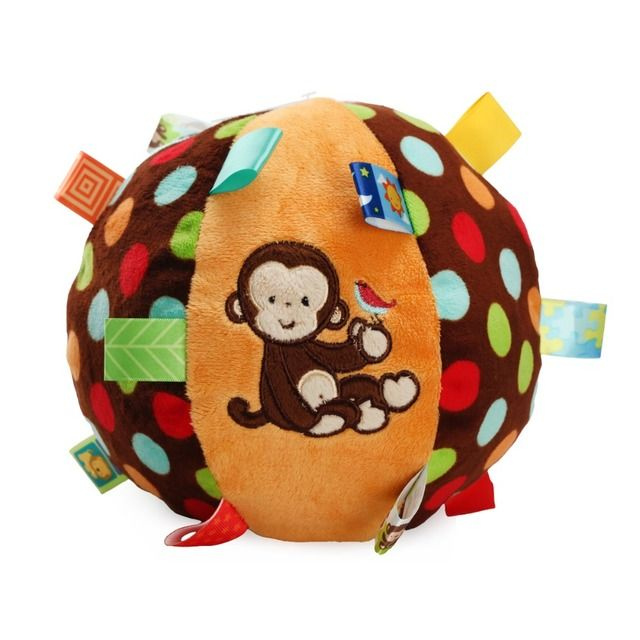 JJOVCE Toys for Newborns Plush Bell Cloth Ball Hand Grab Cloth Ball Soft Stuffed Plush Toys Bed Rattle For Kids Cloth Toys