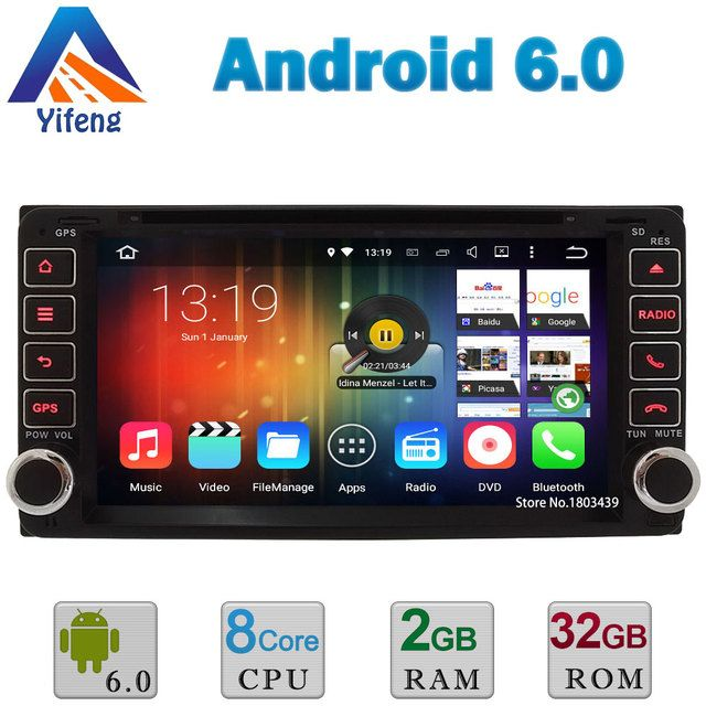 2GB RAM 32GB ROM Android 6.0 Octa Core DAB+ Car DVD Player Radio GPS For TOYOTA RAV4 Camry Corolla Vitz Echo VIOS HILUX Terios