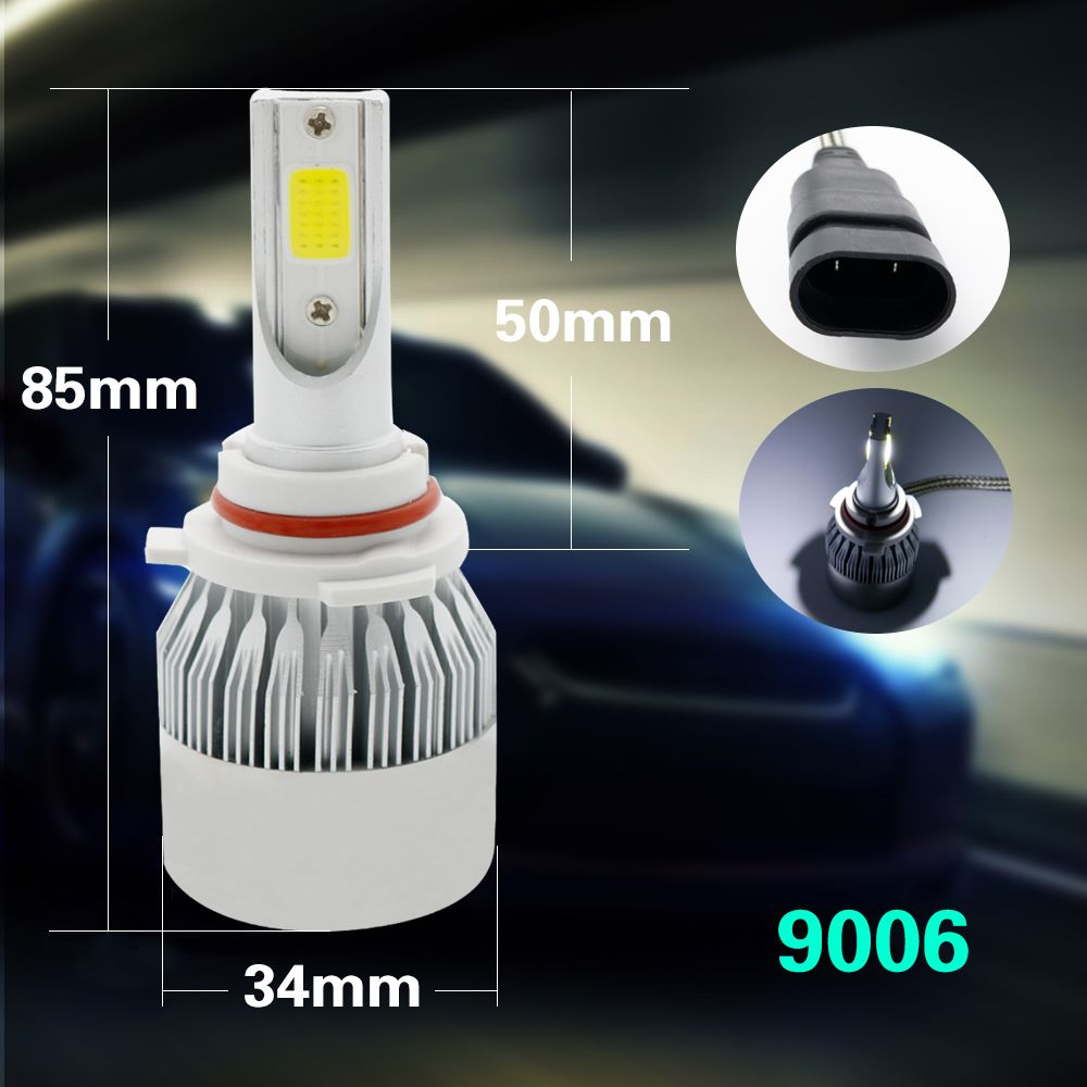 All in One Car Headlights H7 COB LED H4/HB2/9003 H8/H9/H11 HB3/9005 HB4/9006 Auto Bulb 30W Automobiles Headlamp H7 Led C6