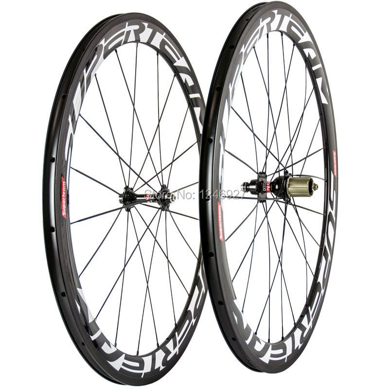 700C 50mm Clincher Carbon Bicycle Wheels Road Bike Wheelset Manufacture Wheelset Novatec 271 Hub 23mm Width