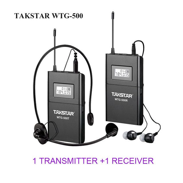 Top Quality Takstar WTG-500 UHF Wireless tour guide system voice device 4 languages simultaneous interpretation teaching system