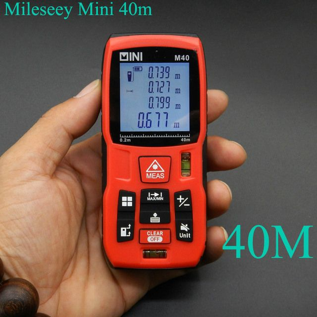 Mileseey Mini 40M Optical Laser Range finder Handheld area measure volume measure telemetre laser distance meter